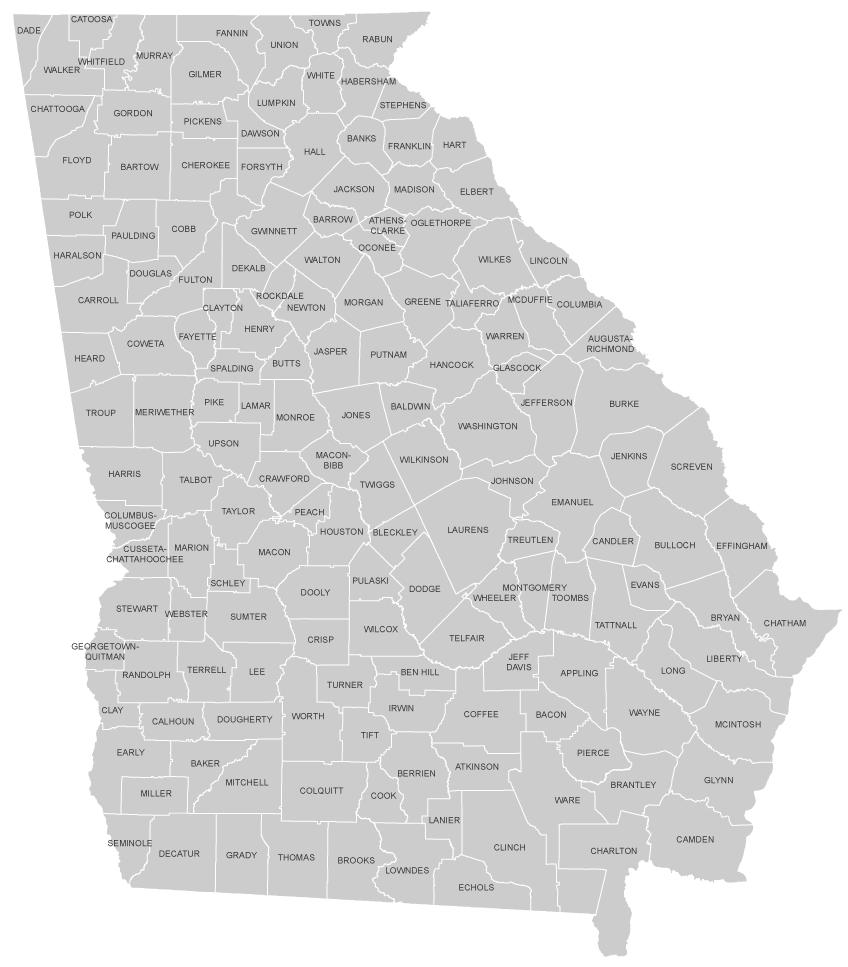 ACCG Advancing Georgias Counties - Counties map georgia